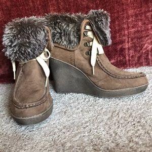 Fall/ Winter Wedge Heel Boots 9.5